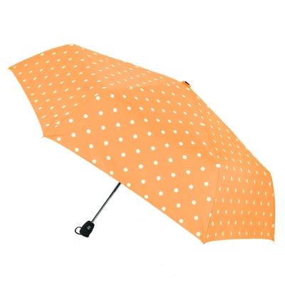 2mm 粉彩泡泡糖 銀膠自動開收傘 (淺橘)_快速到貨