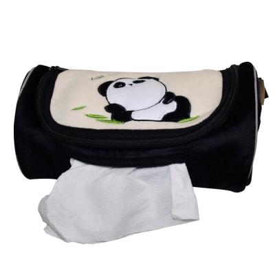 安伯特可愛貓熊面紙套黑色圓仔款