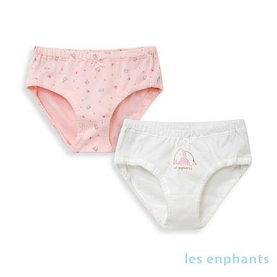 les enphants 粉嫩小象嬰幼兒三角內褲(兩件組)