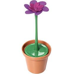 KitchenCraft 附座紫花盆栽濾茶器