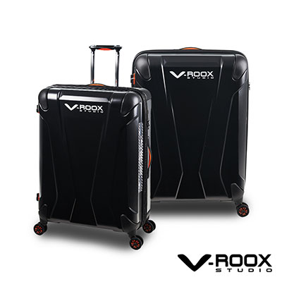 V-ROOX AXIS  26吋 霧面經典黑 原創設計 防爆拉鏈可擴充行李箱