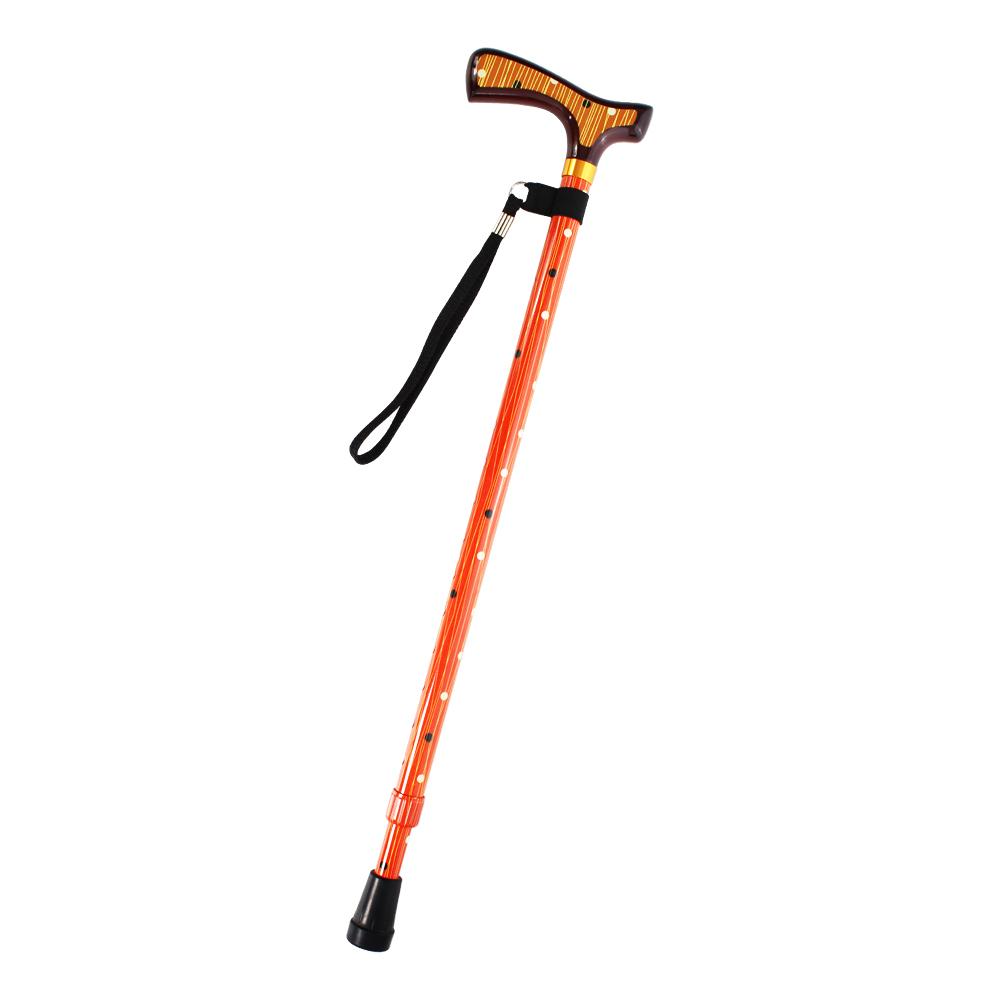 LOVEL經典高質感可調整高低拐杖手杖(普普橘)