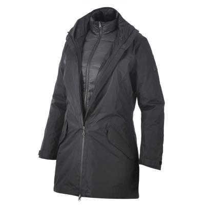 【Berghaus貝豪斯】女款AQ2二件式羽絨外套F21F01-黑