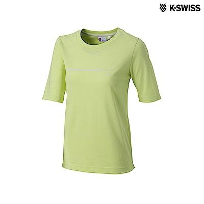 K-Swiss Short Sleeve T-Shirts印花短袖T恤-女-黃