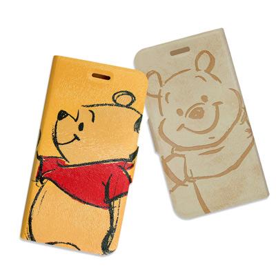 迪士尼授權正版 iPhone 8/iPhone 7 手繪壓印磁力皮套(雙面維尼)