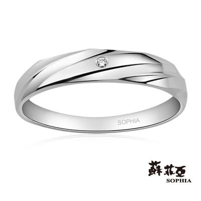 蘇菲亞SOPHIA 結婚戒指-纏綿鉑金鑽石男戒