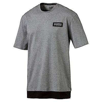 PUMA-男性基本系列小Rebel短袖T恤-中麻花灰-亞規