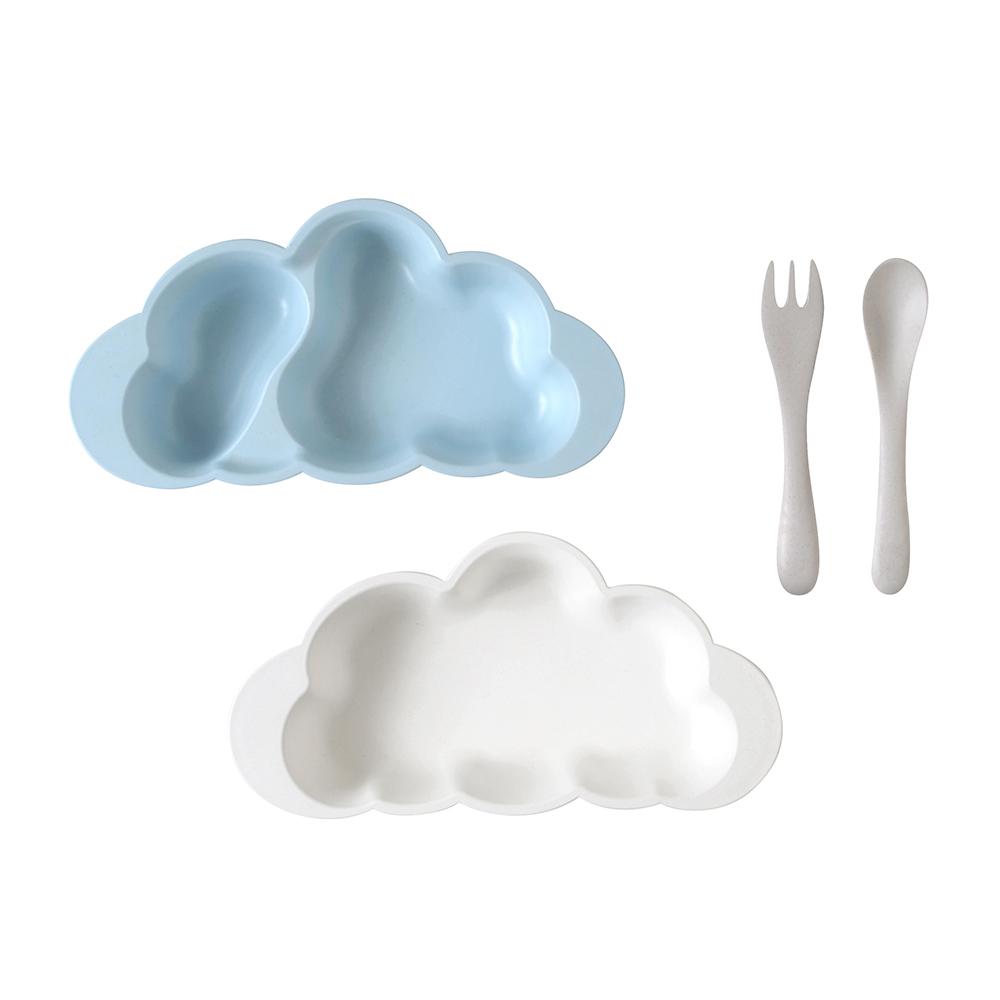 10mois 粉彩雲朵竹纖維餐具組(顏色任選)