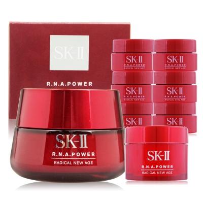 SK-II R.N.A.超肌能緊緻活膚霜80g加贈30ml超值組