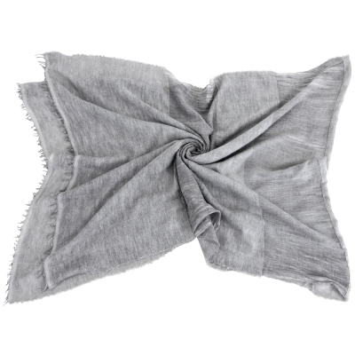 FABIANA FILIPPI  灰色拼接刷白圍巾/批肩