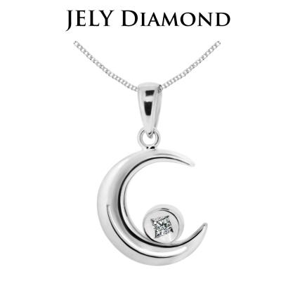 JELY 星辰愛情 約3分天然真鑽項鍊