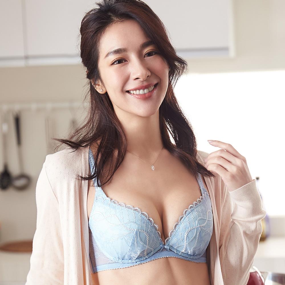 蕾黛絲-蜜糖輕真水 D罩杯內衣(天空藍)