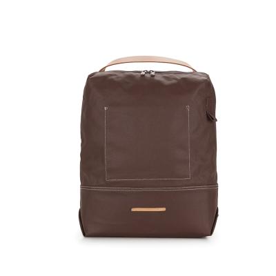 RAWROW-帆布系列-13吋極簡兩用後背包(後背/手提)-深棕-RBP522BR