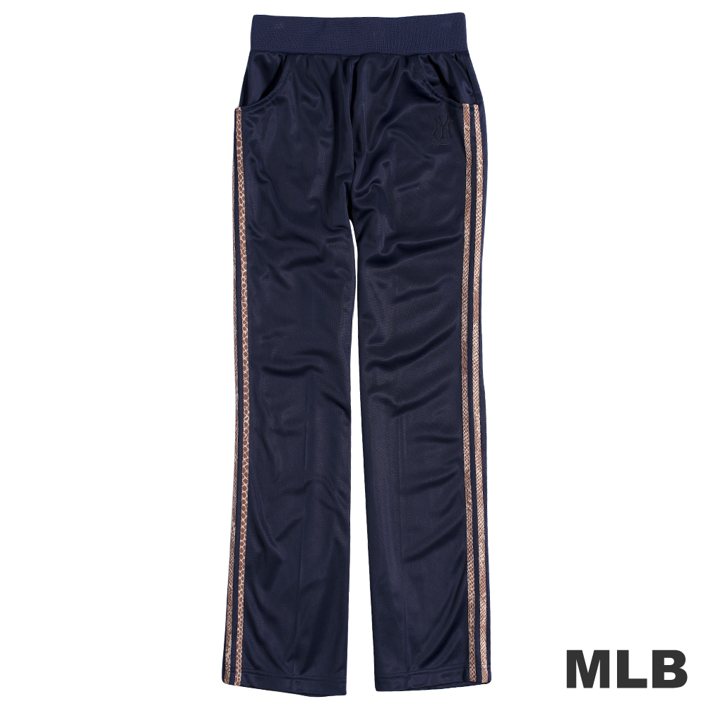 MLB-紐約洋基隊電繡動物紋運動長褲-深藍(女)