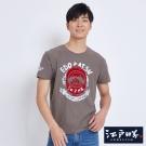 EDWIN EDOKATSU江戶勝燈籠植絨短袖T恤-男-褐色