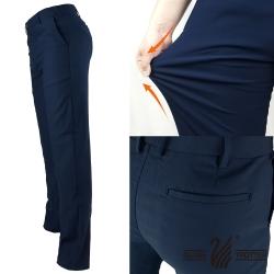 【遊遍天下】俐落款修身彈力時尚休閒長褲P135丈青
