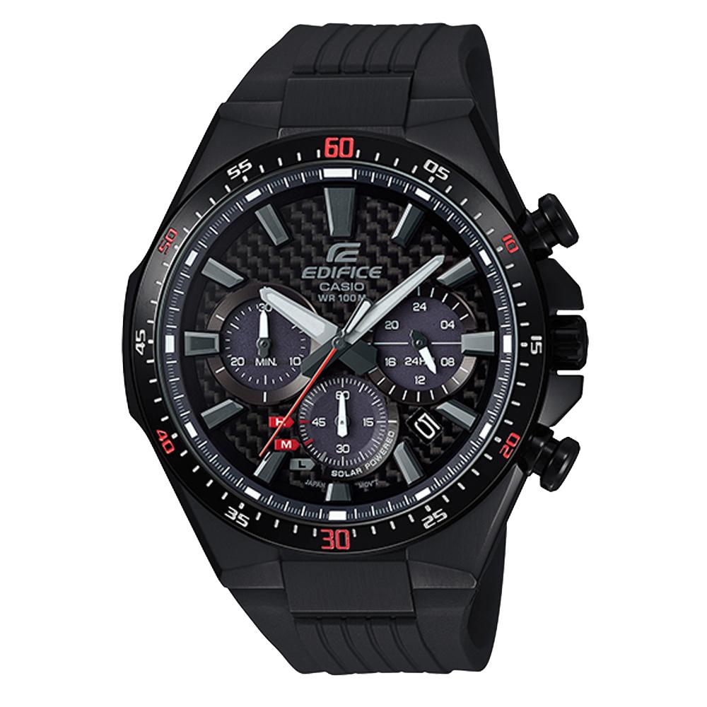 EDIFICE  三眼聚焦太陽能賽車腕錶-EQS-800CPB-1AVUDF-48mm
