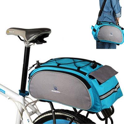 PUSH!自行車用品自行車馬鞍袋後貨袋可背可提式快拆後座袋