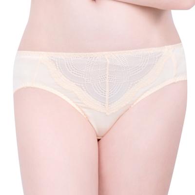 思薇爾 戀波系列M-XXL蕾絲中腰三角褲(金膚色)