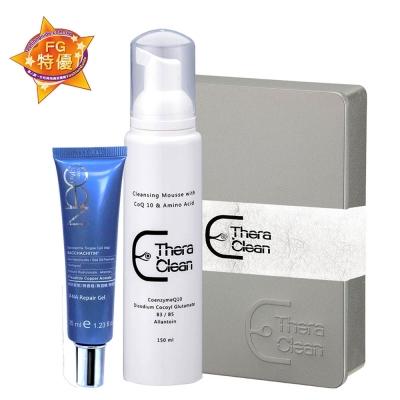 醫洗臉 DNA修護禮盒(舒活彈力潔淨慕斯150ml+DNA肌因修護精華露35ml