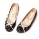 Ameber-夢幻水玉點點厚乳膠平底鞋豆豆鞋