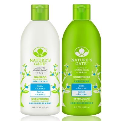 Nature's Gate天然之扉 無基改雙倍維生素H青竹植萃健髮洗髮護髮組