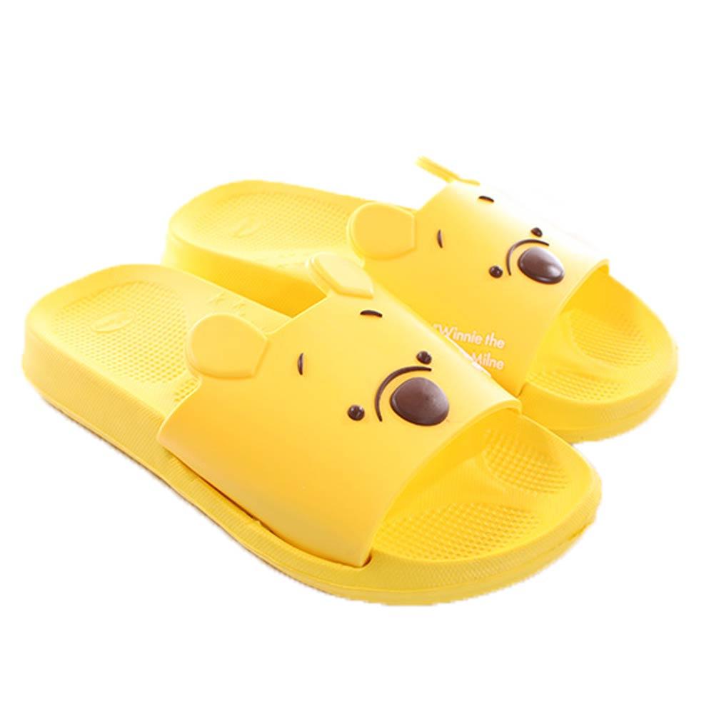 迪士尼維尼熊休閒拖鞋 黃 sh0032 魔法Baby