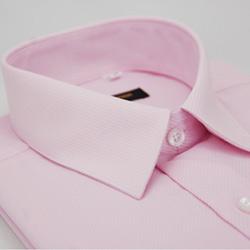 金‧安德森 粉色斜紋長袖襯衫