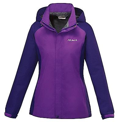 【ATUNAS 歐都納】女款防水GORE-TEX單件式外套A3-G1516W紫深紫