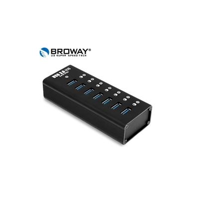 BROWAY USB3.0 5Gbps 7埠集線器 全鋁合金