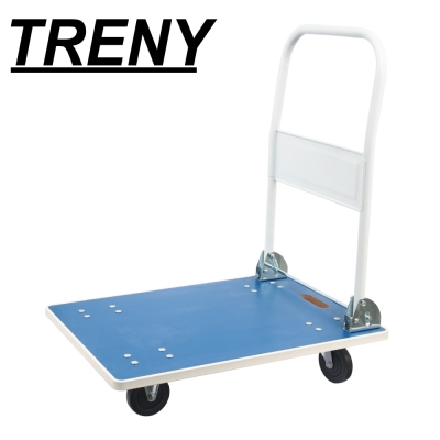 TRENY 強化木板載物車 藍