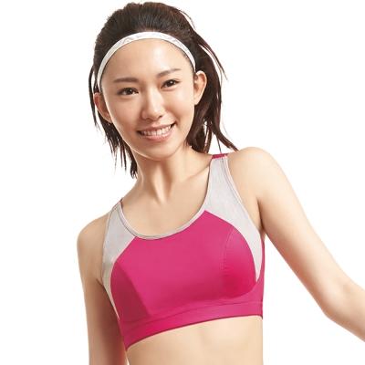 蕾黛絲-動氧Bra-吸震背心-CE罩杯運動內衣(漾桃紅)
