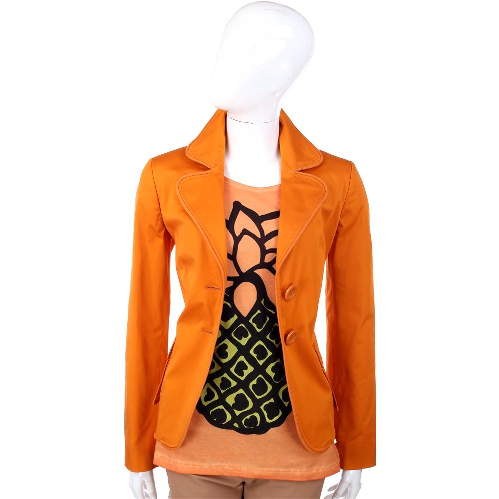 MOSCHINO 橘色雙釦式西裝外套