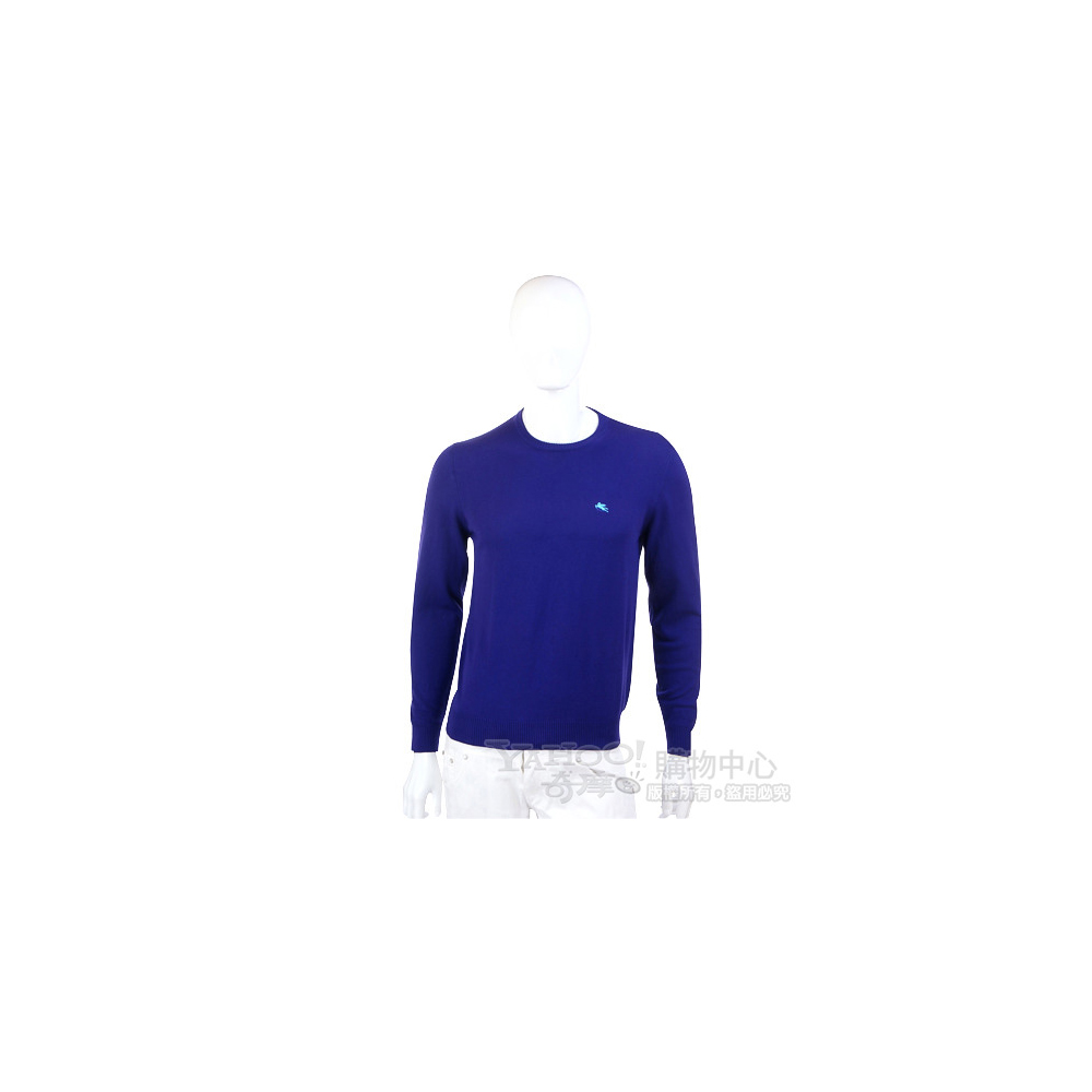 ETRO 藍色素面針織長袖上衣