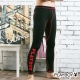 PLAYBOY運動型男流線設計蓄熱保暖內搭褲-黑底紅線