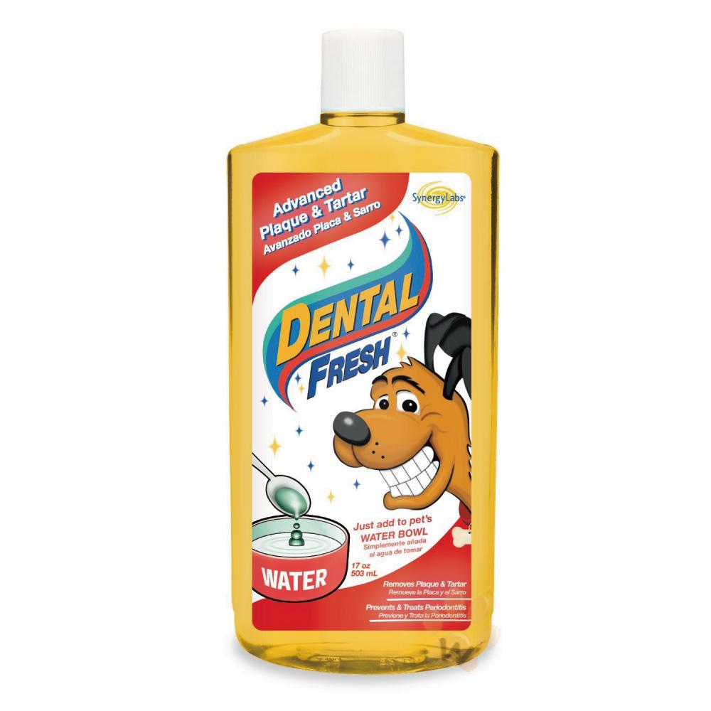 美國DENTALFRESH 犬用全效防護潔齒液17oz 1入