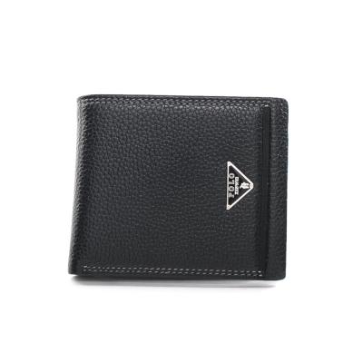 XINWEI-POLO-英式設計質感壓紋經典小牛皮短夾-大-02029-B