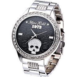 MARC ECKO 龐克達人大錶徑時尚晶鑽腕錶-黑/47mm