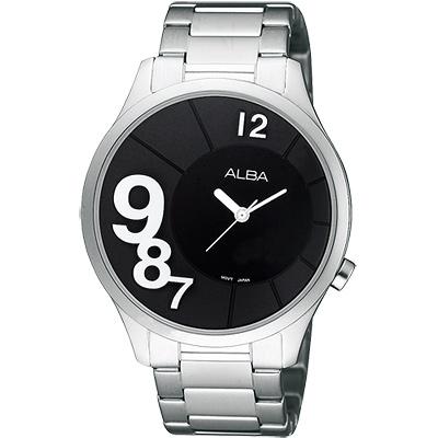 ALBA 魅力女主角時尚腕錶(AH8219X)-黑/38mm