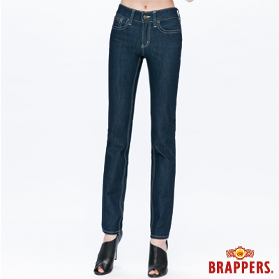 BRAPPERS 女款 新美腳Royal系列-女用中腰彈性AB褲-深藍