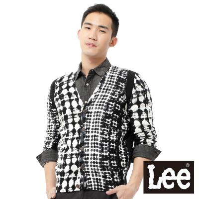 Lee 長袖毛衣外套 -男款(黑白點點)