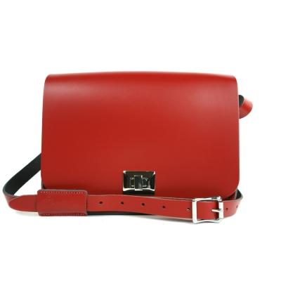 The Leather Satchel 英國手工牛皮精靈包 手拿 肩背包 心機紅