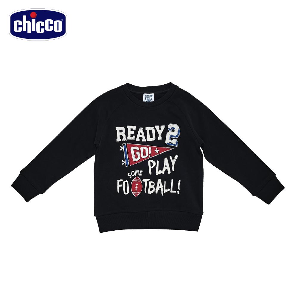 chicco足球長袖上衣-黑(18個月-4歲)