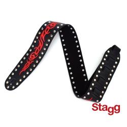比利時 STAGG 電吉他/貝斯 真皮鉚釘 背帶(SLL21)
