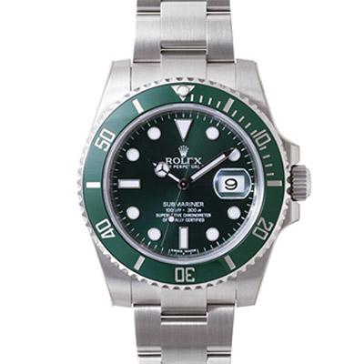 ROLEX 勞力士 Submariner 116610LV 綠陶瓷潛航者機械錶-綠水鬼/40mm