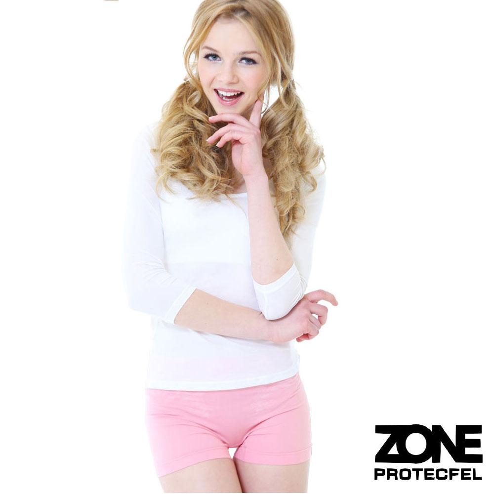 女內褲諾貝爾世紀纖維貼身防護女褲深粉紅ZONE