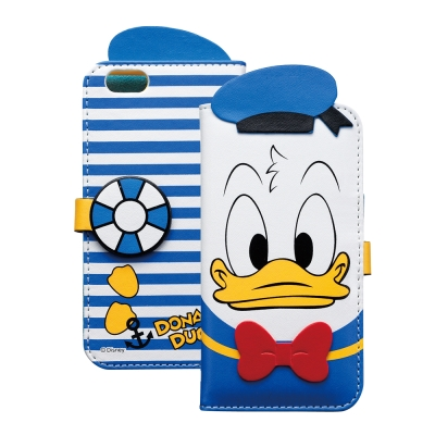 日本 Suncrest Disney iphone 6 /6s 唐老鴨機能側翻皮...