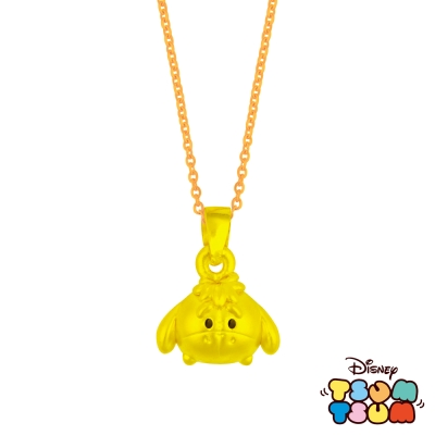 Disney迪士尼TSUM TSUM系列金飾-黃金墜子-屹耳款 送玫瑰鋼項鍊
