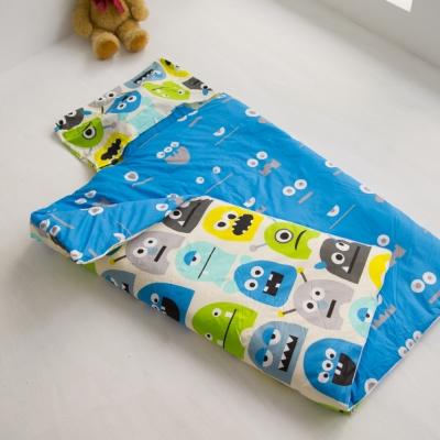 cheri 怪獸寶貝-藍 舖棉兩用小睡袋