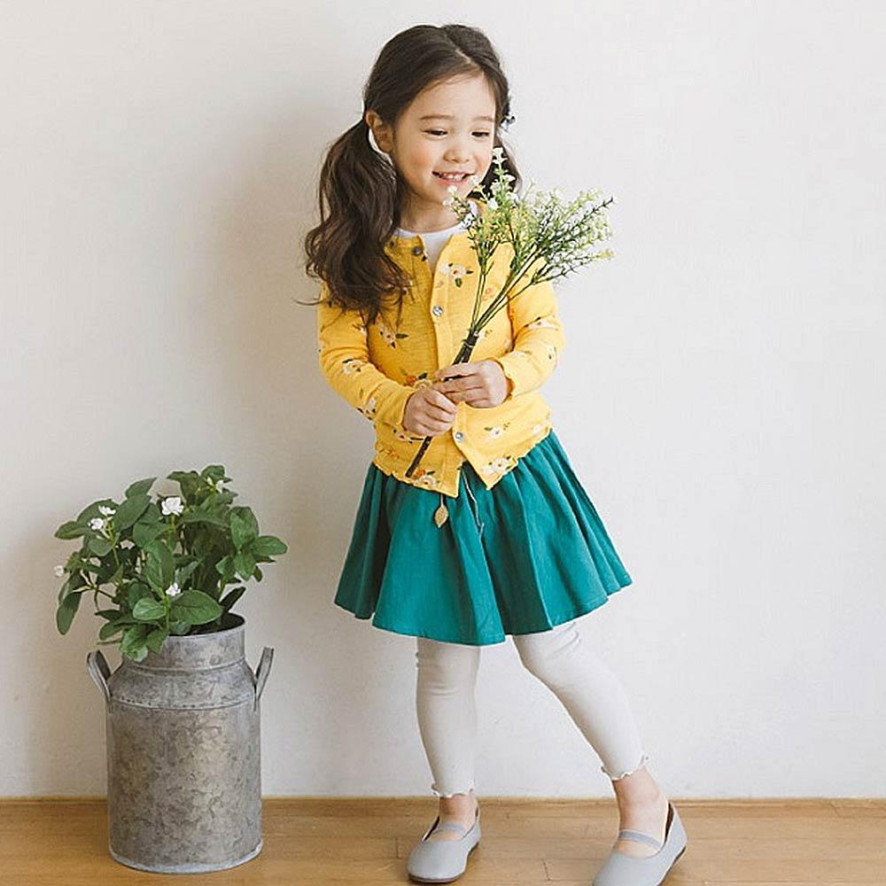 BEBEZOO 黃色花朵前開扣外套